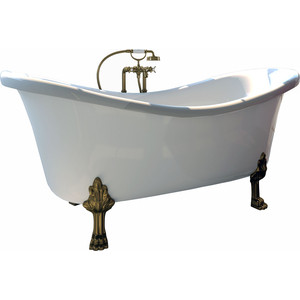 Ванна из литого мрамора Фэма Стиль Габриэлла 189х87 см лапы белые ванна из литого мрамора фэма стиль салерно 170х83 см лапы хром