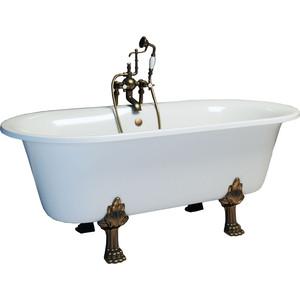 Ванна из литого мрамора Фэма Стиль Феррара 175х80 см лапы сакарская медь ванна из литого мрамора фэма стиль салерно 170х83 см лапы хром