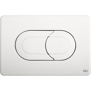 Кнопка смыва OLI Salina пневматическая, белая (640081)