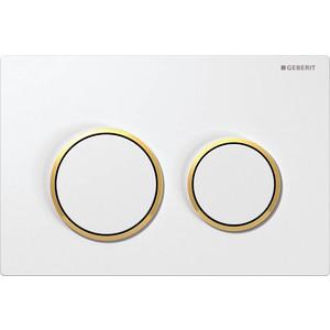 Кнопка смыва Geberit Omega 20 белый/золото (115.085.KK.1) geberit sigma 10 115 758 kk 5 белый золото