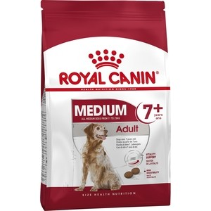Сухой корм Royal Canin Medium Adult 7+ для собак средних пород старше 7 лет 4кг (322040) птк спорт ст 2 1 на скамье подставке 2 ячейки