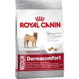 Сухой корм Royal Canin Medium Dermacomfort для собак средних пород склонных к кожным раздражениям и зуду 10кг (117100) птк спорт ст 2 1 на скамье подставке 2 ячейки