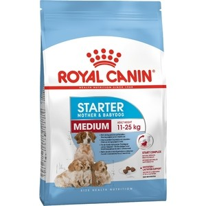Сухой корм Royal Canin Medium Starter Mother & Babydog для щенков средних пород до 2-х месяцев, беременных и кормящих собак12кг (189120)