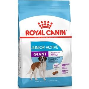 Сухой корм Royal Canin Giant Junior Active для щенков очень крупных пород с высокими энергетическими потребностями 15кг (198150)