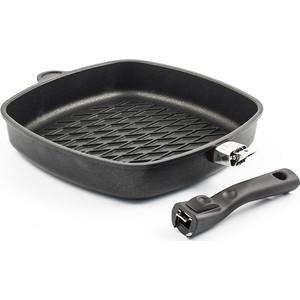 Сковорода-гриль 28 см AMT Gastroguss Frying Pans (AMT E285BBQ) крышка квадратная 28 см amt gastroguss glass lids amte28