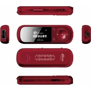 MP3 плеер Ritmix RF-3360 4Gb red mp3 плеер ritmix rf 4850 8gb dark red