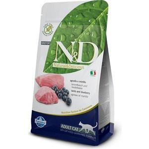 Сухой корм Farmina N&D Adult Cat GF Lamb & Blueberry беззерновой с ягненком и черникой для кошек 1,5кг (20208) витамин с шипучий с черникой friggs 20 шт