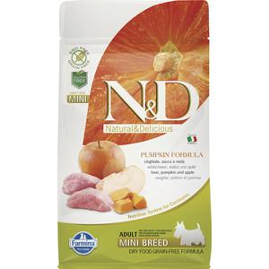 Сухой корм Farmina N&D Adult Dog Mini GF Pumpkin Boar & Apple беззерновой с мясом кабана яблоком и тыквой для собак мелких пород 800г (33215)