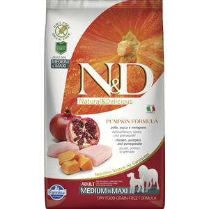 Сухой корм Farmina N&D Dog Medium&Maxi GF Pumpkin Chicken&Pomegranate беззерновой с курицей гранатом тыквой для собак средних и крупных пород 2,5кг фото