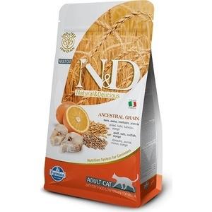 Сухой корм Farmina N&D Adult Cat LG Codfish & Orange низкозерновой с треской и апельсином для кошек 5кг (32775)
