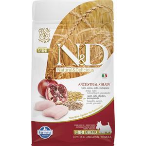 Сухой корм Farmina N&D Adult Dog Mini LG Chicken & Pomegranate низкозерновой с курицей и гранатом для собак мелких пород 800г (21977)