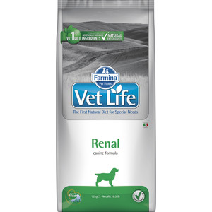 все цены на Сухой корм Farmina Vet Life Renal Canine диета при заболеваниях почек для собак 12кг (25395) онлайн