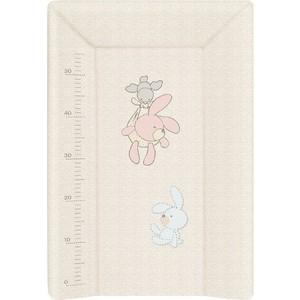 Матрас пеленальный Ceba Baby (Себа Беби) 70 см с изголовьем на кровать 120*60 см Bunnies grey W-201-068-260