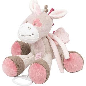 Игрушка мягкая Nattou Musical Soft toy (Наттоу Мьюзикал Софт Той) Nina, Jade & Lili Единорог музыкальная 987066