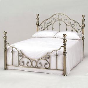 Кровать металлическая TetChair VICTORIA 140x200, цвет античная медь