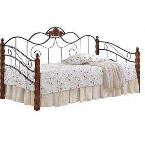 Кровать TetChair CANZONA 90x200 черный/красный дуб кровать металлическая tetchair jane 90x200 цвет античный белый