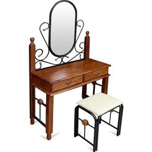 где купить Столик туалетный TetChair AT-992 (DT-5), цвет черный/красный дуб по лучшей цене