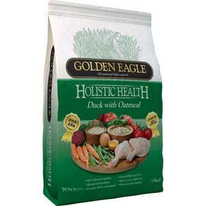 Сухой корм Golden Eagle Holistic Health Duck with Oatmeal Formula с уткой и овсянкой для собак 12кг (233131) golden eagle holistic health power formula для активных собак 12кг 233834