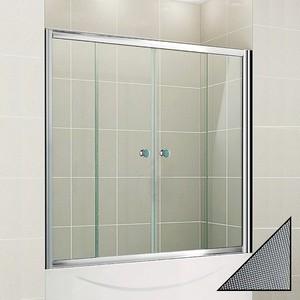 Шторка на ванну Cezares Pratico VF-2-150 Punto, хром (PRATICO-VF-2-150/140-P-Cr)