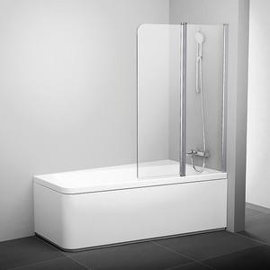 Шторка на ванну Ravak 10 10CVS2 100 R прозрачная, хром, правая (7QRA0C03Z1) шторка на ванну ravak chrome cvs2 100 r прозрачная сатин правая 7qra0u00z1