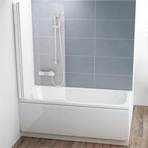 Шторка на ванну Ravak Chrome CVS1-80 L прозрачная, белый, левая (7QL40100Z1)