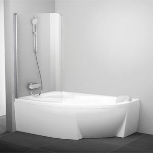 Шторка на ванну Ravak Chrome CVSK1 100 Rosa 160/170 L прозрачная, хром, левая (7QLS0C00Y1)