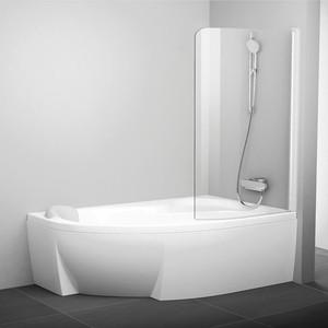 Шторка на ванну Ravak Chrome CVSK1 100 Rosa 160/170 R прозрачная, белый, правая (7QRS0100Y1)