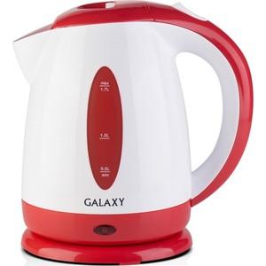 Чайник электрический GALAXY GL0221, красный чайник электрический galaxy gl0221 голубой
