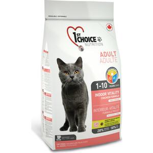 Сухой корм 1-ST CHOICE Adult Cat Indoor Vitality Chicken Formula с курицей для домашних кошек 2,72кг (102.1.212)