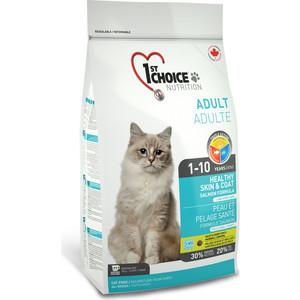 Сухой корм 1-ST CHOICE Adult Cat Healthy Skin & Coat Salmon Formula с лососем здоровая кожа и шерсть для кошек 5,44кг (102.1.223) фото