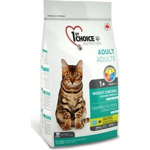 Сухой корм 1-ST CHOICE Neutered Cat Weight Control Chicken Formula с курицей контроль веса для стерилизованных кошек 5,44кг (102.1.262) фото