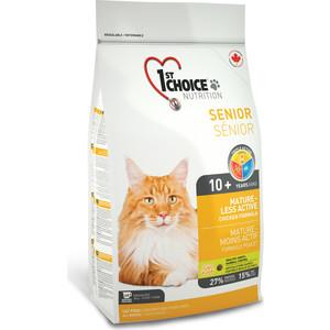 Сухой корм 1-ST CHOICE Senior Cat Less Active Chicken Formula с курицей для пожилых и малоактивных кошек 5,44кг (102.1.272) фото