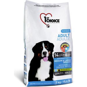 Сухой корм 1-ST CHOICE Adult Dog Medium & Large Breeds Chicken с курицей для собак средних и крупных пород 15кг (102.317)