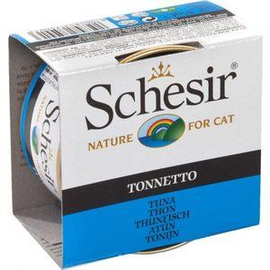 цена на Консервы Schesir Nature for Cat Tuna кусочки в желе с тунцом для кошек 85г (С135)
