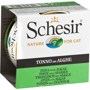 цена на Консервы Schesir Nature for Cat Tuna with Algae кусочки в желе с тунцом и водорослями для кошек 85г (С142)