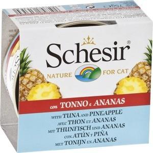 Консервы Schesir Nature for Cat Tuna & Pineapple кусочки в желе с тунцом и ананасом для кошек 75г (С353)