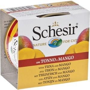 Консервы Schesir Nature for Cat Tuna & Mango кусочки в желе с тунцом и манго для кошек 75г (С354)