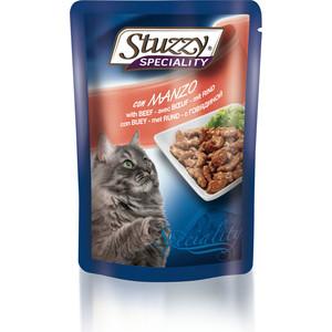 цена на Паучи Stuzzy Cat Speciality with Beef кусочки в соусе с говядиной для кошек 100г (131.2502)