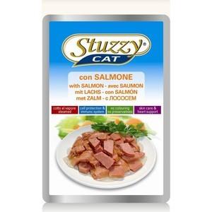Паучи Stuzzy Cat Skin Care & Heart Support with Salmon кусочки в соусе с лососем, забота о коже и сердце для кошек 100г (132.С2406)