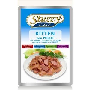 цена на Паучи Stuzzy Cat Kitten Skin Care & Heart Support with Chicken кусочки в соусе с курицей, забота о коже и сердце для котят 100г (132.С2451)