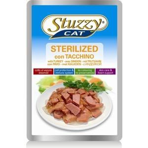 цена на Паучи Stuzzy Cat Sterelized Skin Care & Heart Support with Turkey кусочки в соусе с индейкой для стерилизованных кошек 100г (132.С2458)