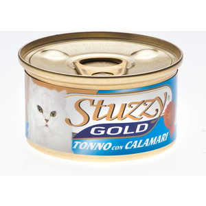 Консервы Stuzzy Cat Gold Tuna & Squid кусочки в собственном соку с тунцом и кальмарами для кошек 85г (132.С400) помидорчики в собственном соку меленъ 950 г