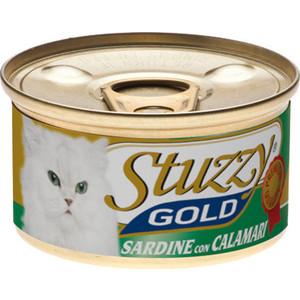 Консервы Stuzzy Cat Gold Sardines & Squid кусочки в собственном соку с сардинами и кальмарами для кошек 85г (132.С401)