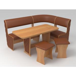 Кухонный уголок Маэстро Консул-1 Лайт ольха/коричневый с накладками