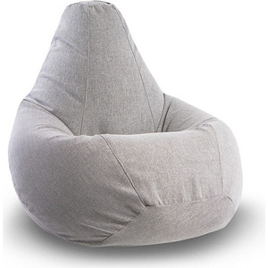 Кресло-мешок POOFF Серое микровельвет XL