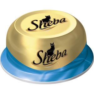Консервы Sheba сочный тунец в нежном соусе для кошек 80г (10116244) корм для кошек sheba сочный тунец в нежном соусе конс 80г