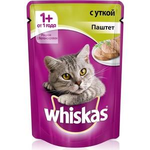 цена на Паучи Whiskas паштет с уткой для кошек 85г (10156258)