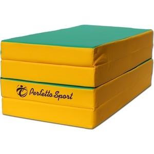 Мат PERFETTO SPORT № 5 (100 х 200 10) складной 3 сложения зелёно/жёлтый (0403)