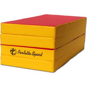 Мат PERFETTO SPORT № 5 (100 х 200 10) складной 3 сложения красно/жёлтый