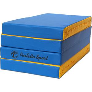 Мат PERFETTO SPORT № 5 (100 х 200 10) складной 3 сложения сине/жёлтый